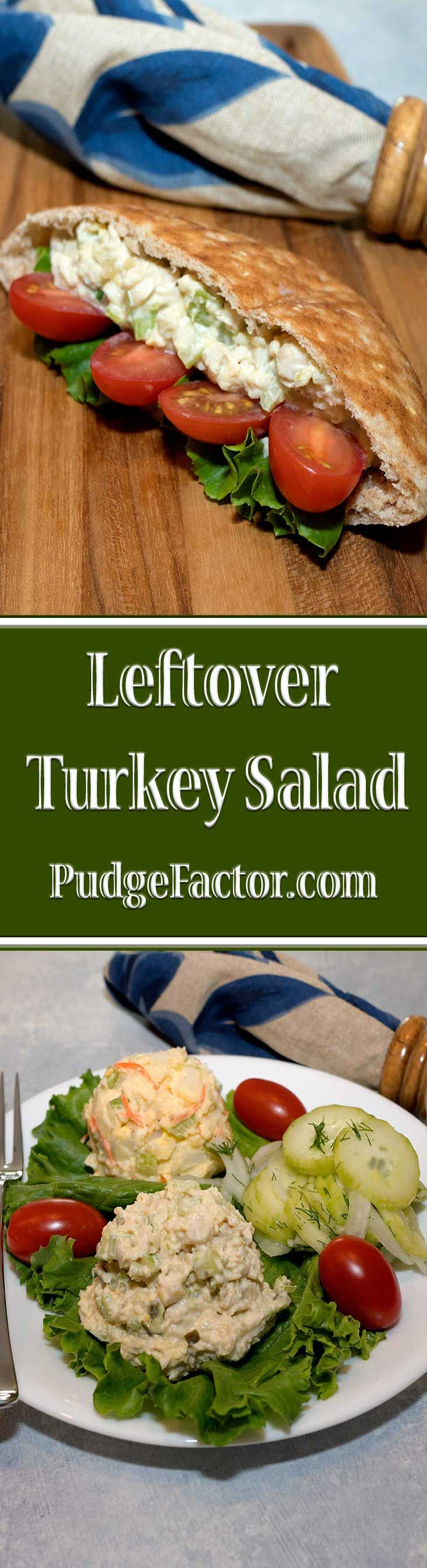 An easy and delicious salad with leftover turkey!