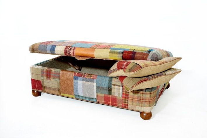 Made from individually stitched fabrics from mulberry to ralph lauren. Great for storage to!