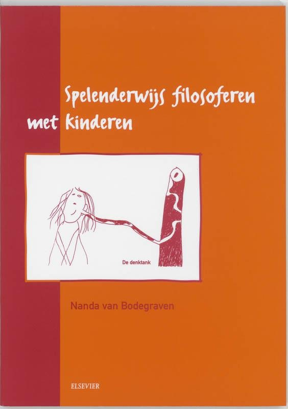 Spelenderwijs filosoferen met kinderen. Is een goed boek waarin ook veel creatieve opdrachten staan, naast het in gesprek gaan en filosoferen.