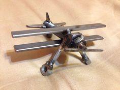 Airplane metal art