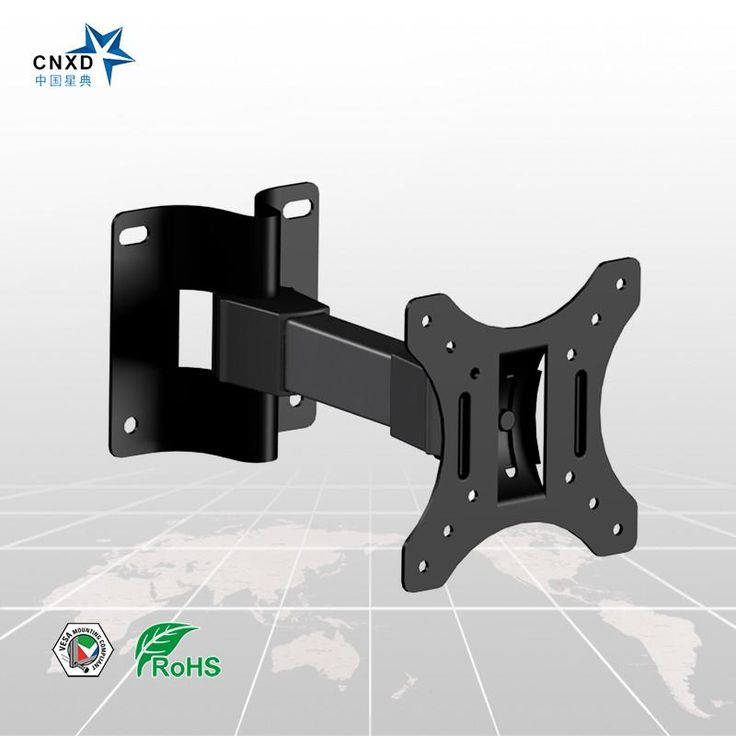"LED TV Wall Mount PC Monitor Bracket Tilt Adjustable Plasma TV Wall Holder Suitable TV Size 10""-23"""