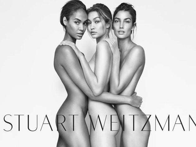 Джиджи Хадид, Джоан Смоллс и Лили Олдридж в рекламной кампании Stuart Weitzman