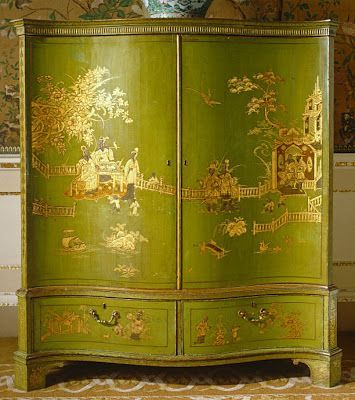 chinoiserie green cabinet - Google Search