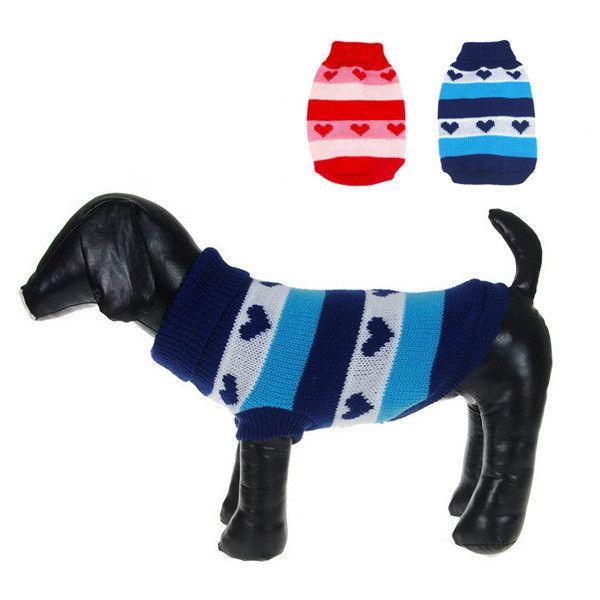 Dog Heart Stripes Warm Sweater