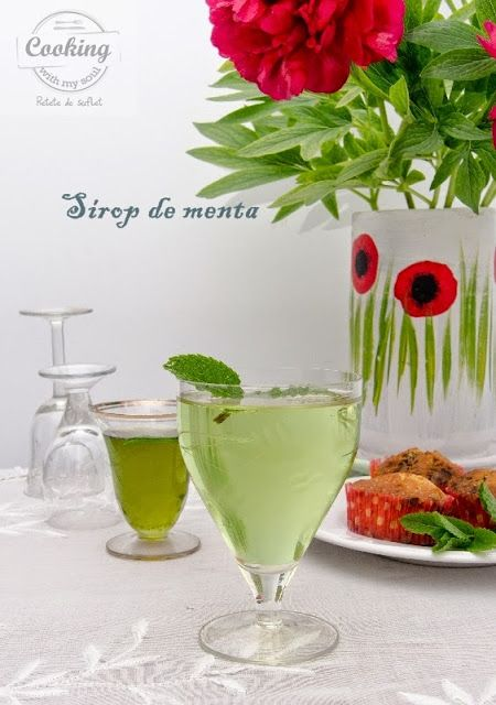Sirop de menta - Bauturi racoritoare @ Cooking with my soul