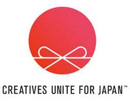 "logo ""Creatives unite for Japan"""
