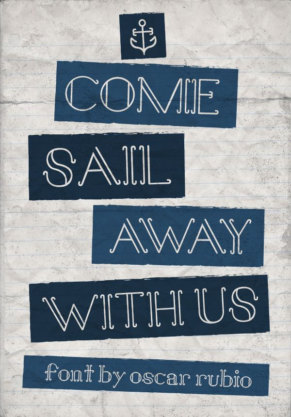 Sail Away // Free Font // A nautical themed type.
