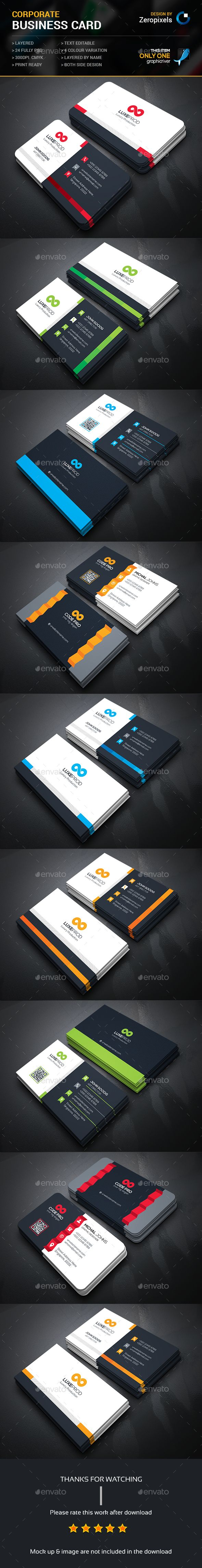 Corporate Business Card Bundle Templates PSD. Download here: http://graphicriver.net/item/corporate-business-card-bundle/15980392?ref=ksioks
