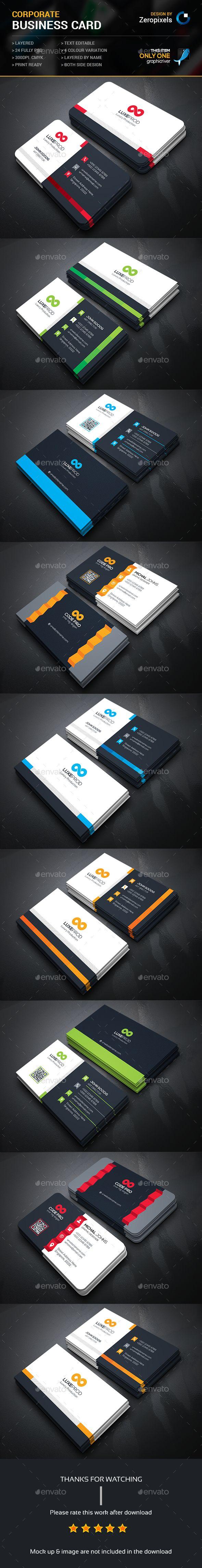 Corporate Business Card Bundle Templates PSD. Download here: http://graphicriver.net/item/corporate-business-card-bundle/15980392?ref=ksioks