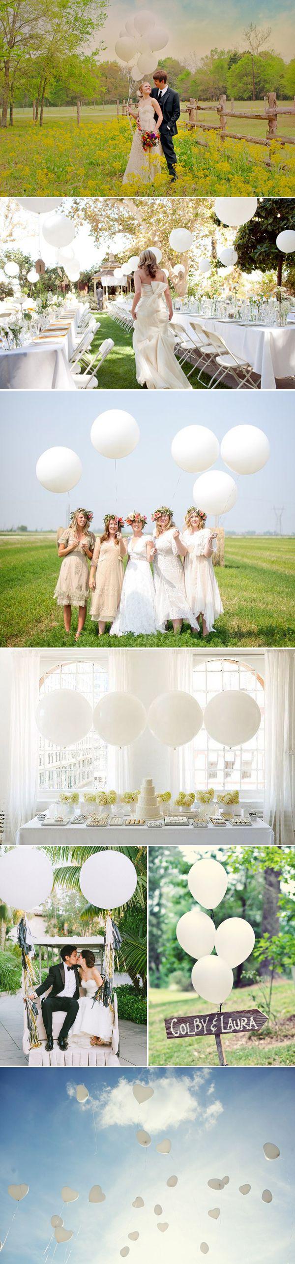 Stijlvol witte ballonnen, Goedkope versiering: ballonnen - Girls of honour