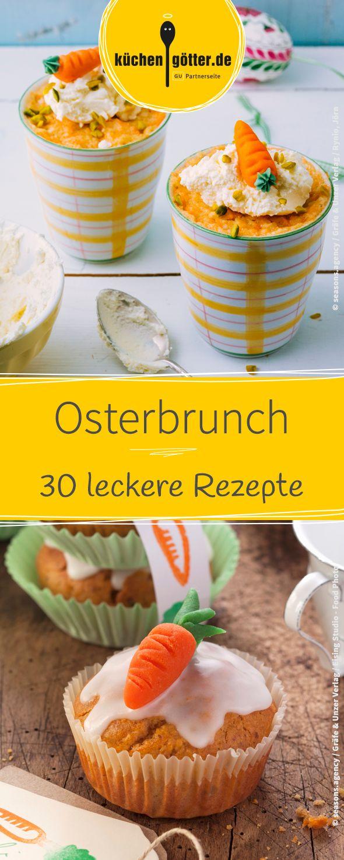 Hier findet ihr 30 leckere Rezepte für den Osterbrunch. Von Rübli-Muffins, über Oster-Whoppies, bis hin zu Krabben-Rührei.