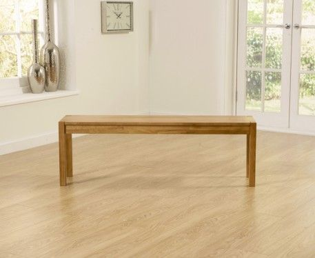 Large Oxford Solid Oak Bench