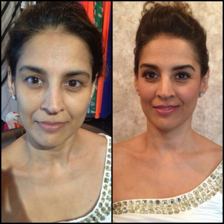 Before and after of one lovely client  #loveformakeup