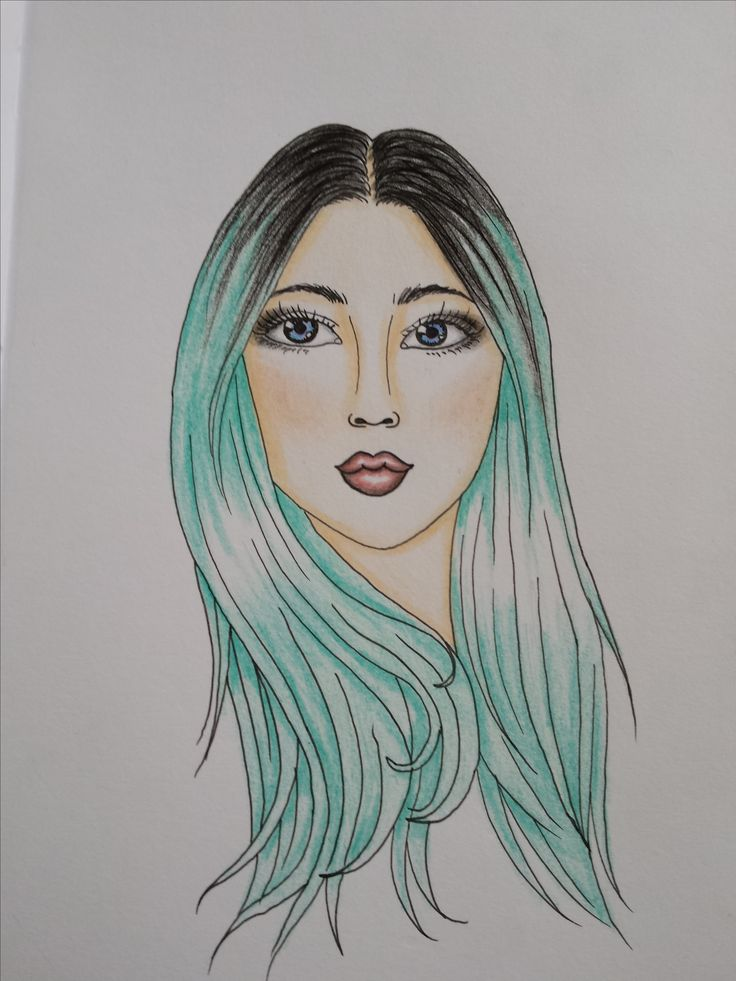 Face and hair drawing