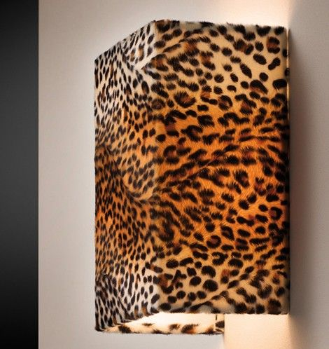 wall lamp, perfect for the walk-in closet... #light #leopard #decor #home