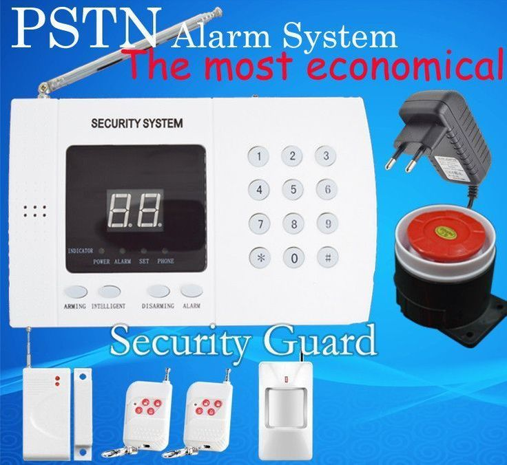 Free shipping Wholesale NEW wireless alarm system PSTN home anti-theft security alarm system with wireless remote control device