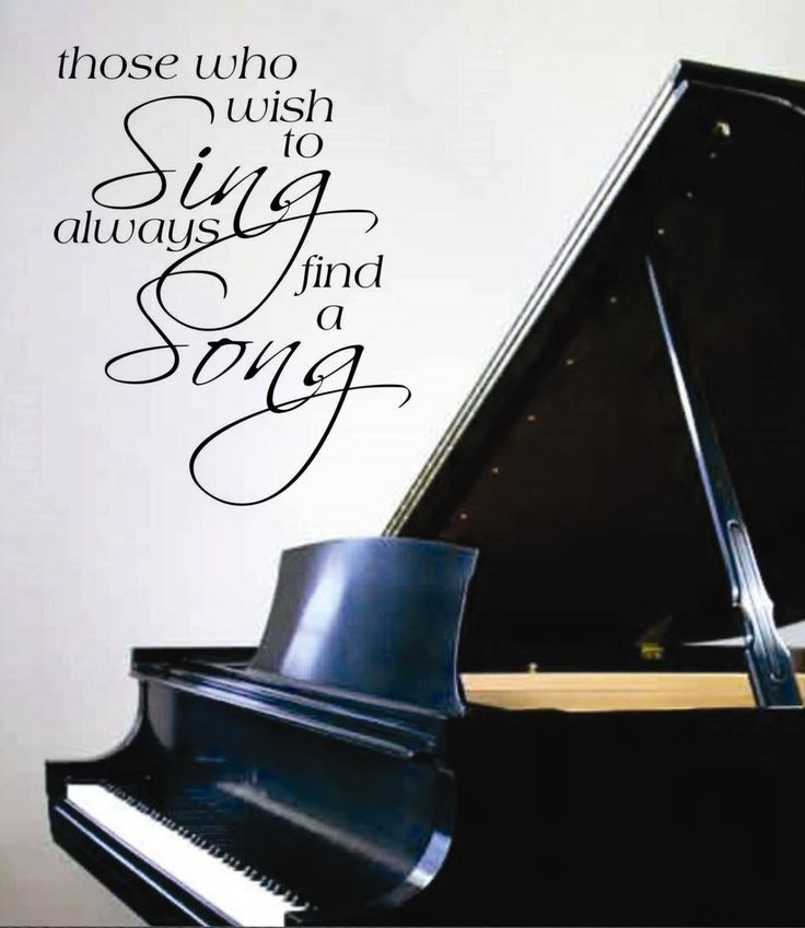 Vinyl Wall Lettering Quotes Words Music Decals Sing a Song