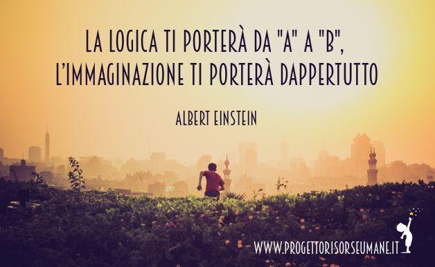 """La logica ti porterà da A a B, l'immaginazione ti porterà dappertutto"" #Einstein #combattere #crescere #progettorisorseumane"