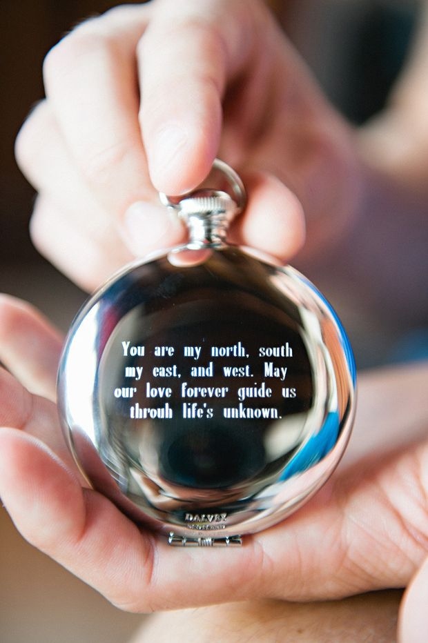 20 Seriously Sweet Wedding Morning Gift Ideas For Grooms Weddingsonline Morning Wedding Compass Wedding Wedding Day Quotes