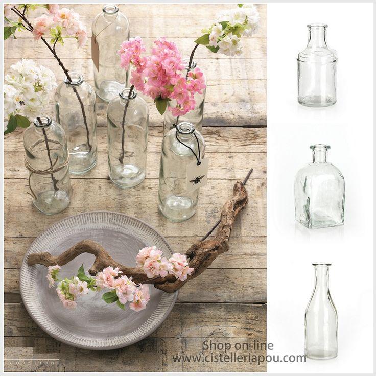 40 best images about cristal para decoraci n de bodas y - Centros de mesa con botellas ...