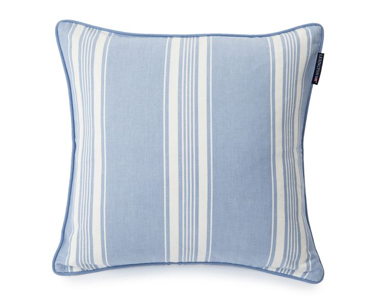 Lexington Cushion Ticking Striped 50 x 50 cm lightblue