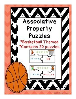 Associative Property of Multiplication Puzzles