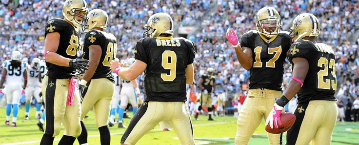 loved watching my saints beat the panthers in CLT
