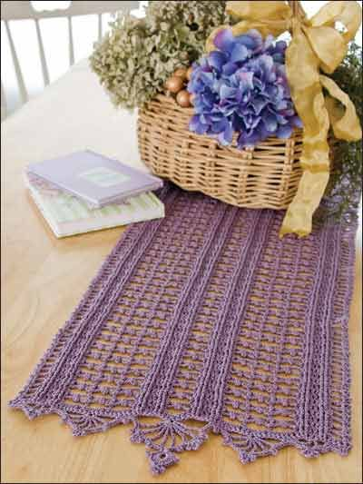 Crochet for the Home - Crochet Tablecloth & Table Runner Patterns - Flirt