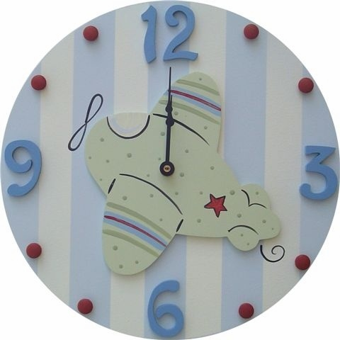 Airplane Clock and decor at Jack and Jill Boutique