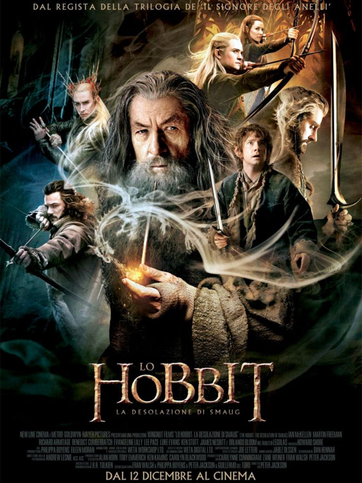 Gandalf: Mi sono imbattuto in alcuni sgradevoli personaggi mentre viaggiavo sul Verdecammino. Mi hanno scambiato per un vagabondo.  Thorin Scudodiquercia: Immagino che se ne siano pentiti...  Gandalf: Uno di loro portava un messaggio. [lo mostra] È Lingua Nera questa: una promessa di pagamento...  Thorin Scudodiquercia: Per cosa?  Gandalf: La tua testa!