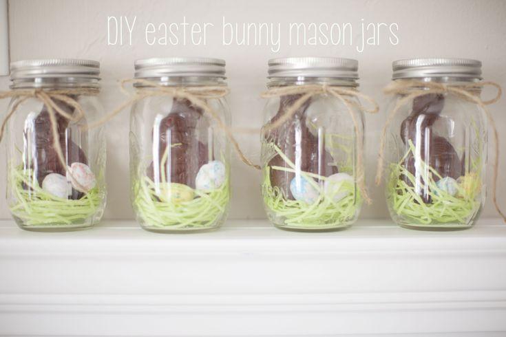 easter bunny mason jars.