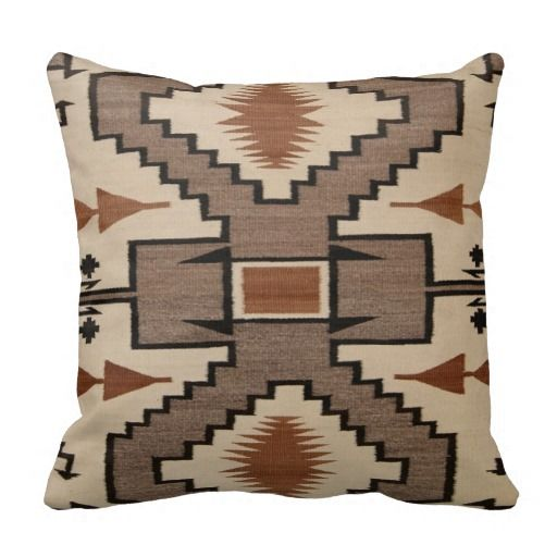 Navajo Native American Indian Storm Pattern Throw Pillow
