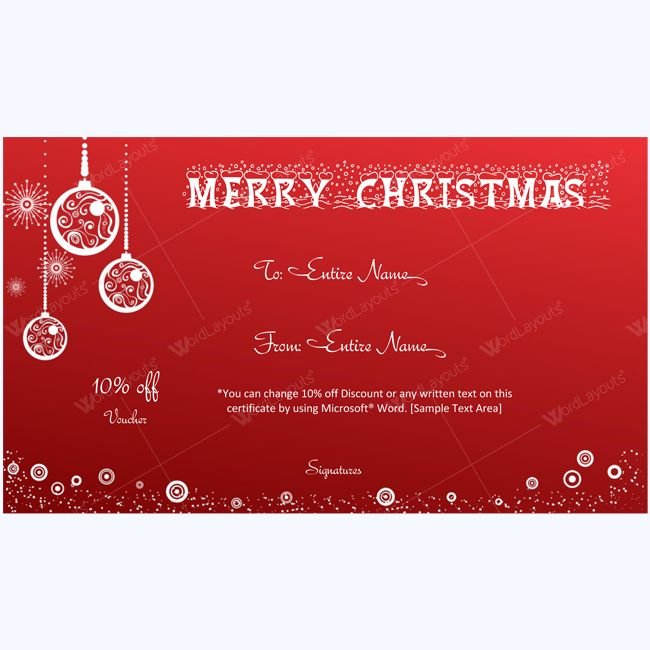 The 25 best ideas about Gift Certificate Template Word on – Xmas Gift Certificate Template