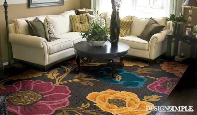 Decorating With Bold Floral Rugs With Images Floral Rugs