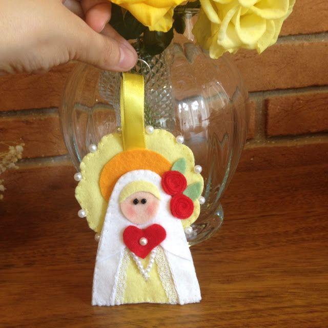 Chaveiro Nossa Senhora de Fátima em Feltro | @ateliemadrica