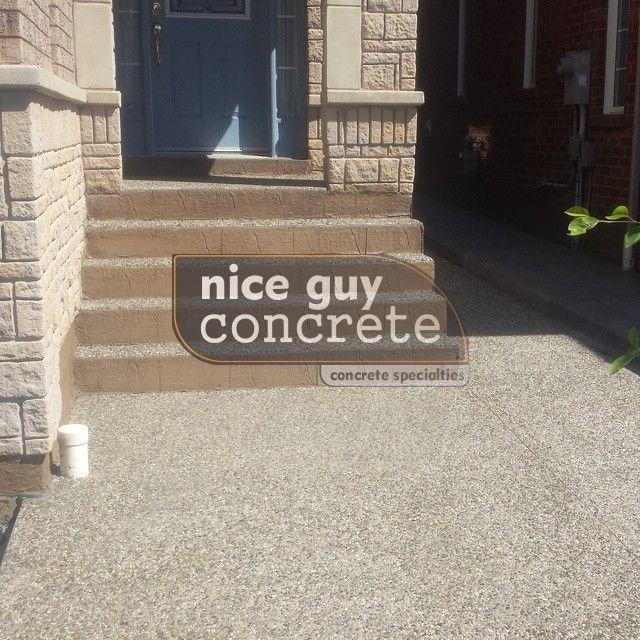 exposed aggregate concrete contractor in Mississauga, Ontario #exposedaggregate