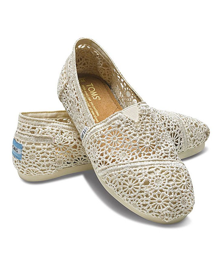 Love this TOMS Natural Morocco Crochet Classics by TOMS on #zulily! #zulilyfinds