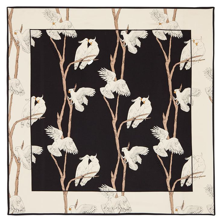 fauna 90x90cm silk scarf | Oroton Luxury Accessories