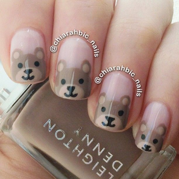 bear by chiarahbic_nails #nail #nails #nailart