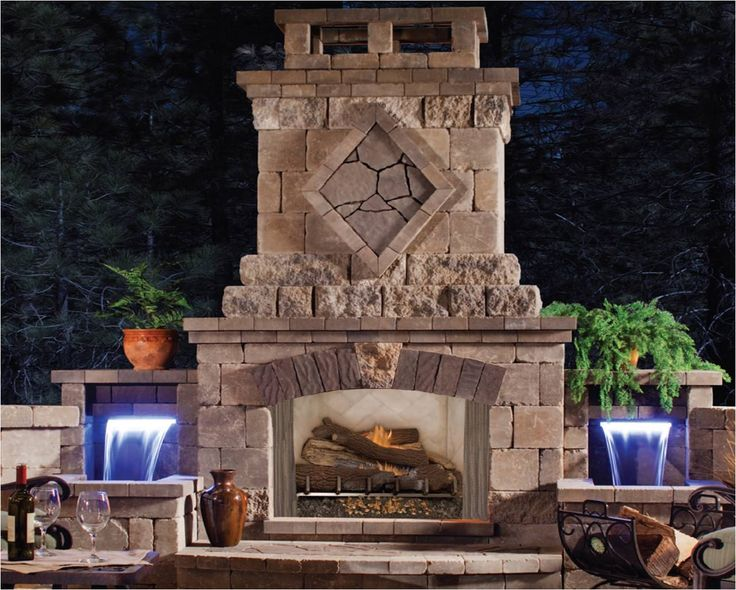 76 best Outdoor Fireplace images on Pinterest | Fireplace ...