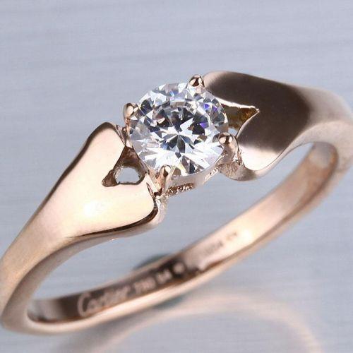 ... inlay solitaire diamonds on discount ziq mariage anneaux de mariage