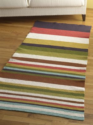 I'm in love with strips and the idea of making my own rugs.