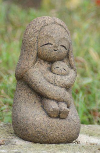 Japan-Collection-Healing-Ksitigarbha-made-of-Granite-JIZO-H-24-cm