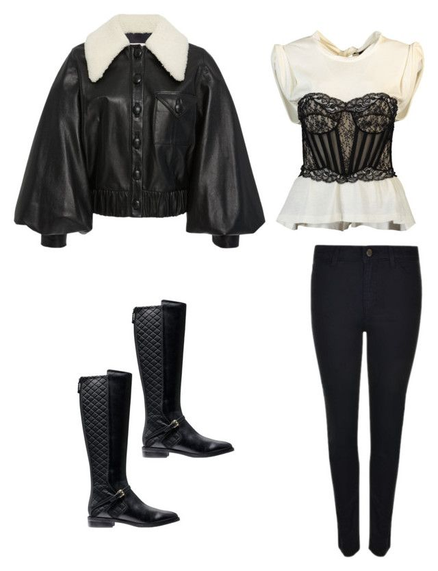 """""""Sunday Evening Movie and Dinner"""" by elshaymac ❤ liked on Polyvore featuring Rodarte, Armani Jeans, Cole Haan and Alexander Wang"""