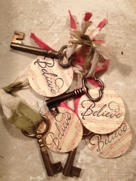 Santa's Keys/Skeleton Keys/XMAS by MarchHareMade on Etsy, $4.50