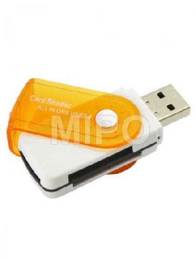 Card Reader 4Slot Lipat  Alat pembaca memory dengan 4 slot.   Specifications: - USB Specification v2.0 - Support SD / MMC / MiniSD / T-Flash / Micro SD Card - Direct data transfer from USB port  Harga rp25.000 Info detail di : www.tokomipo.com