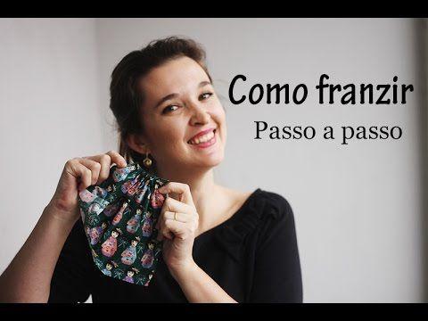 Como franzir tecido - dica de costura - YouTube