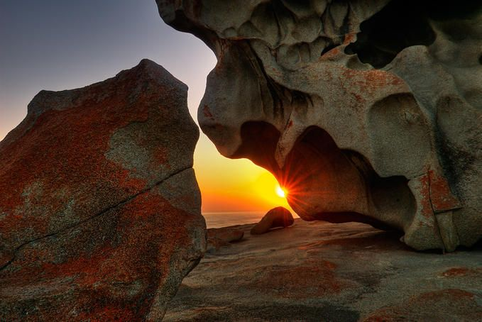 Kangaroo island sunrise , it's Australia's third largest island, after Tasmania and Melville Island.