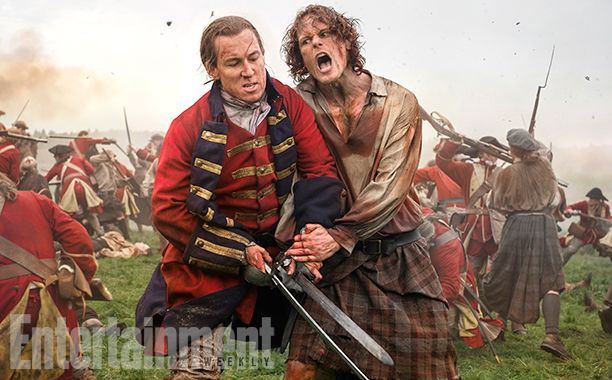 'Outlander' Season 3 First Look: Clash of the Tartans | Tobias Menzies as Black Jack Randall and Sam Heughan as Jamie Fraser | EW.com