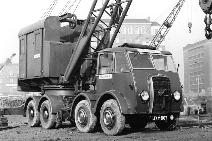 FODEN mobile crane lorry...operated by McAlpine, civil engineering company.
